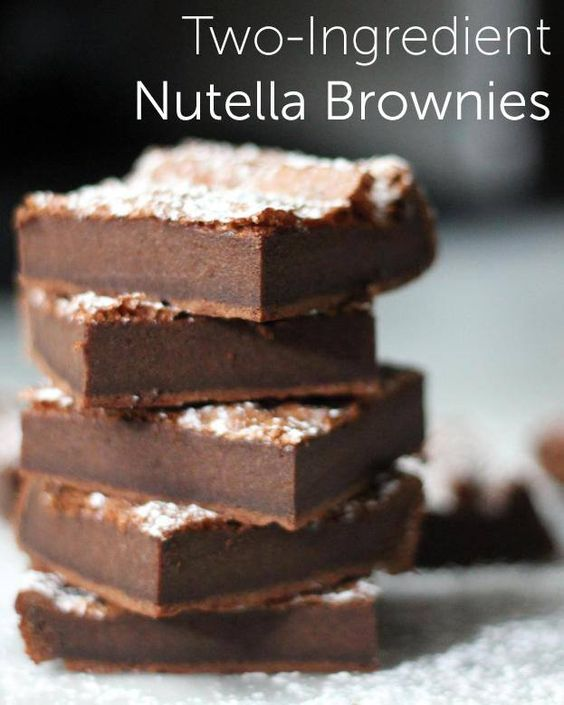 2 ingredient brownies - EZ Cooking