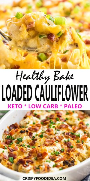 Cheap Keto Loaded Cauliflower Casserole