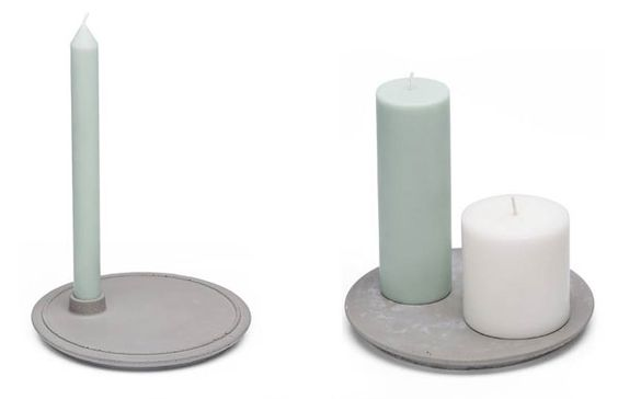 Concrete candle holders by Doreen Westphal / Mensch Made