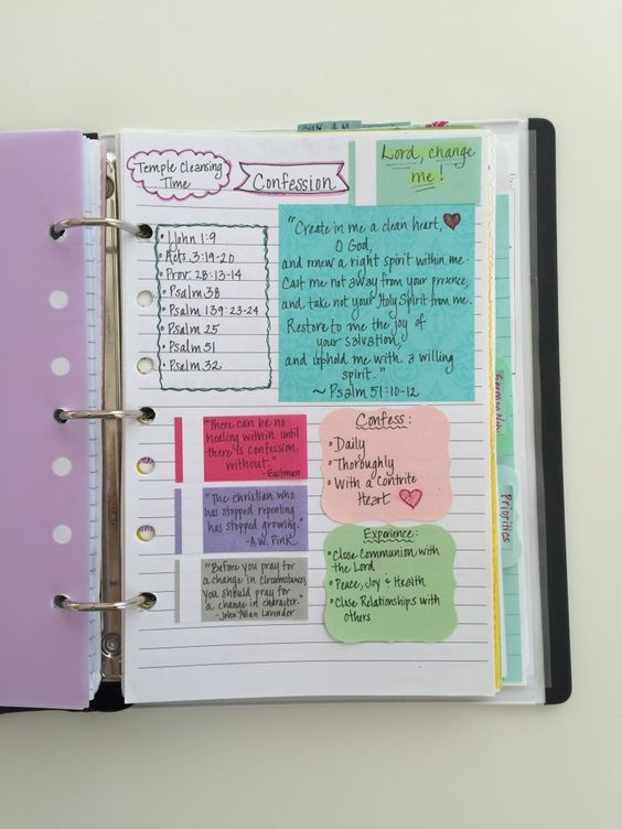 How can you make confession a regular part of your times with the Lord?  Find out in my post - How to Create a Personal Prayer Notebook - The Healthy Happy Woman