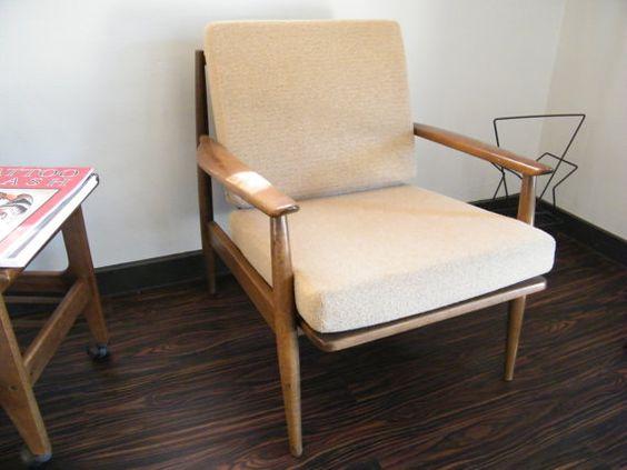 Mid Century Danish Modern Viko Baumritter Lounge Chair