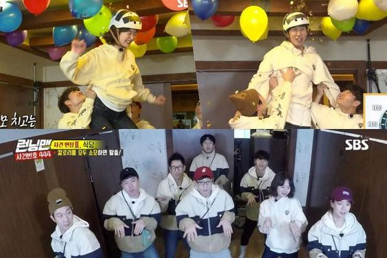 """Running Man"" Cast Shows Great Teamwork + Has Fun Dancing To MOMOLAND's ""BBoom BBoom"""