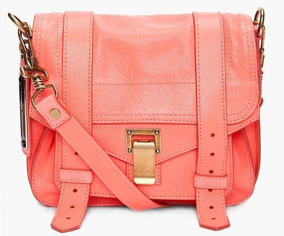 shoulder bag.. CORAL!