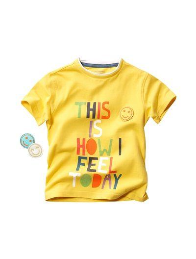 Boy's T-Shirt Yellow+White+Turquoise