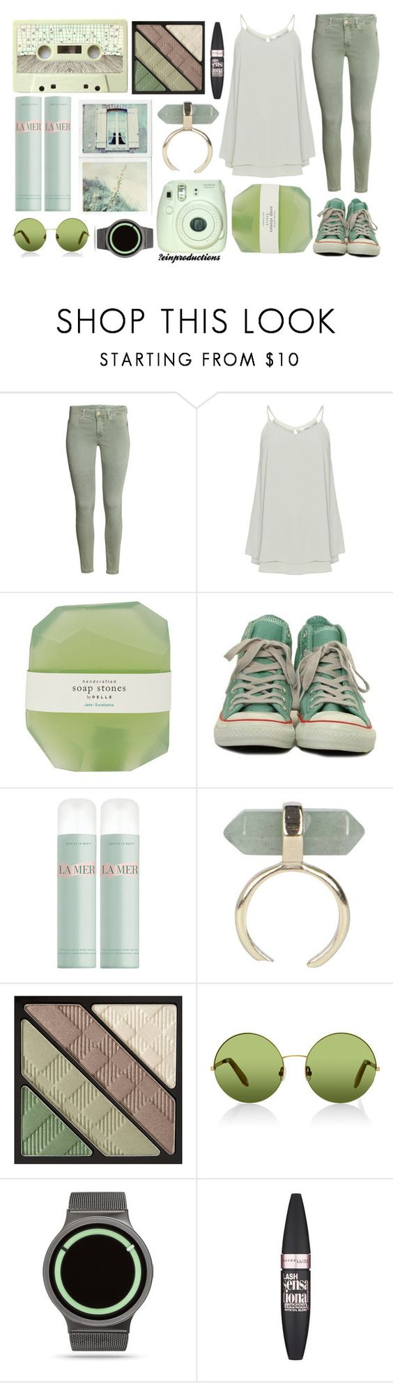 """Hip"" by einproductions on Polyvore featuring Zizzi, Pelle, Converse, La Mer, Boohoo, Burberry, Victoria, Victoria Beckham, ZIIIRO and Maybelline"