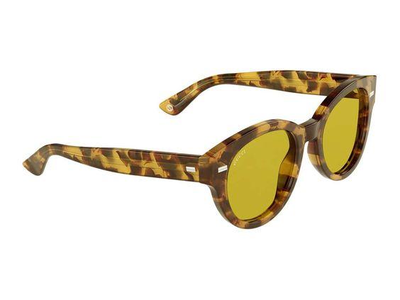 Sonnenbrille aus Acetat mit rundem Rahmen