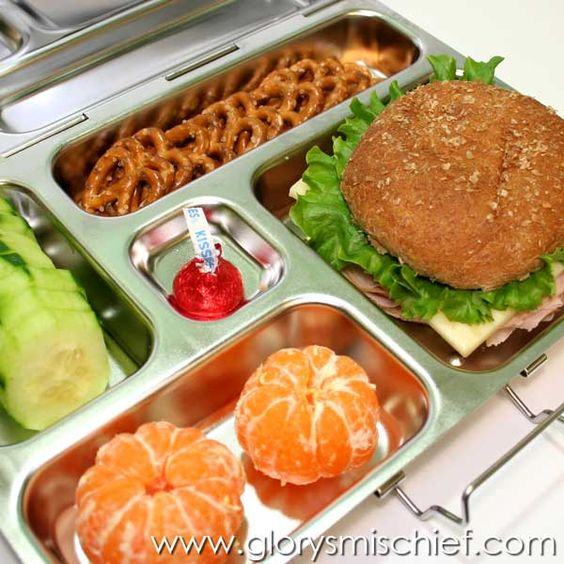 School lunch lunches and schools on pinterest for Lunch food ideas