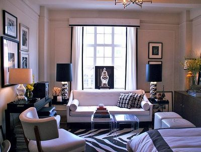 white leather apartment furniture layout