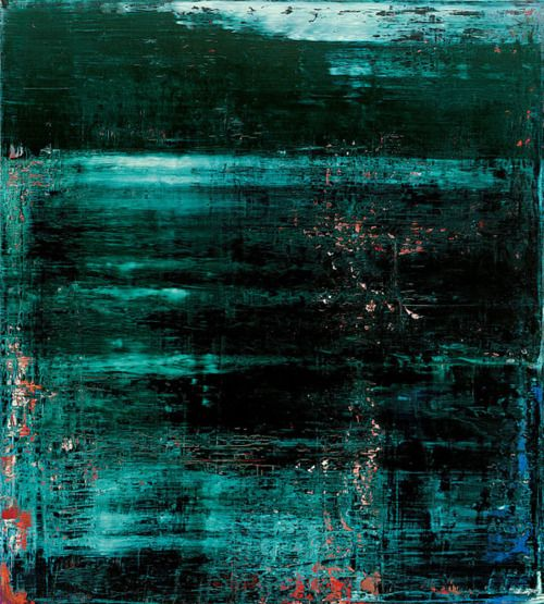 Gerhard Richter, Abstract Painting, Lake, 1997