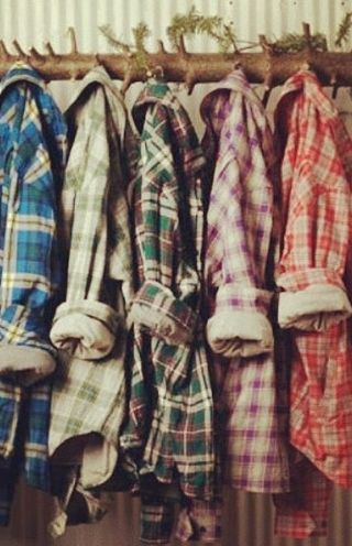one can never have too many colorful flannels :) ~ we ❤ this! moncheriprom.com