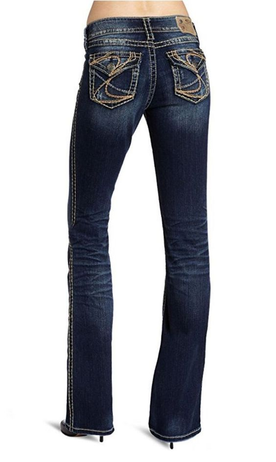 NEW Women's SILVER JEANS Mid Rise Suki Surplus Curvy Boot Stretch ...
