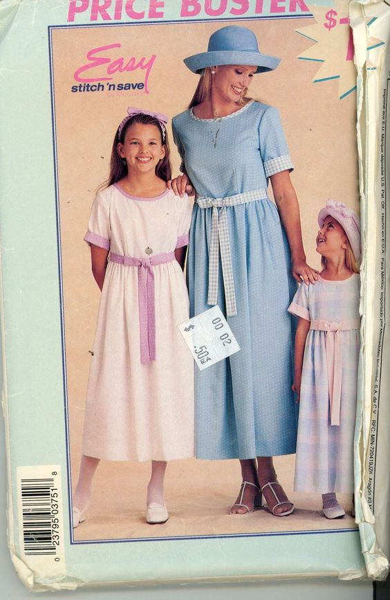 McCalls Easy Dress Pattern P375, for Misses or Children All sizes included - Women