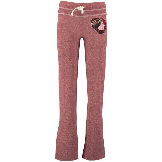 Florida State Seminoles Original Retro Brand Women's Lightweight Tri-Blend Jersey Pants - Garnet