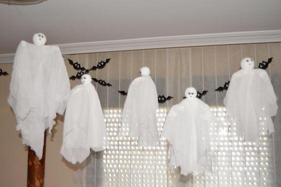 Decoracion De Halloween ~   Halloween http  bricoblog eu fantasmas voladores para halloween #