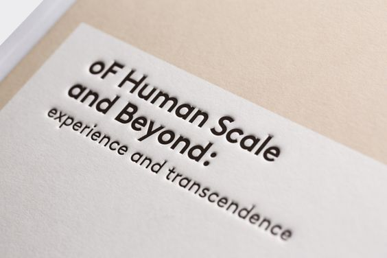 of Human Scale and Beyond - Exhibition Catalogue by Renatus Wu, via Behance