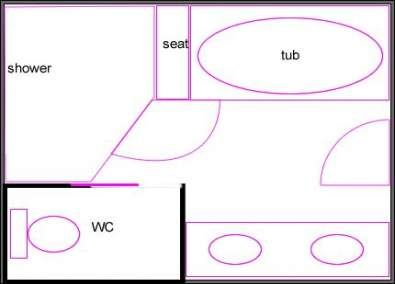 51 Ideas For Bathroom Floor Plans 9x7 Bathroom Layout Bathroom Floor Plans Simple Bathroom Decor