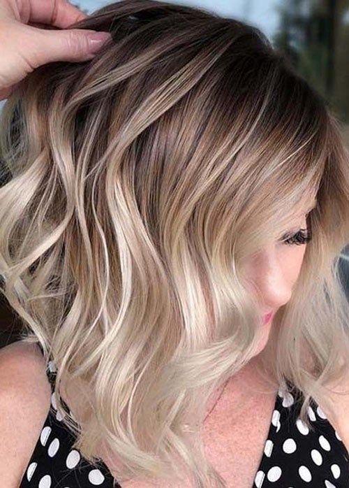 44 Brown And Blonde Balayage Short Hair Beautiful Brown To Blonde Ombre Short Hair Blonde Ombre Short Hair Ombre Hair Blonde Short Ombre Hair