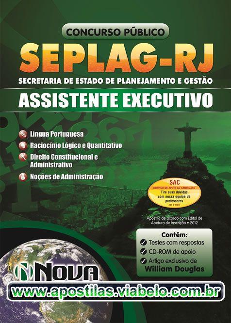 Concurso SEPLAG RJ 2012 - Apostila para Assistente Executivo  (R$41.90)