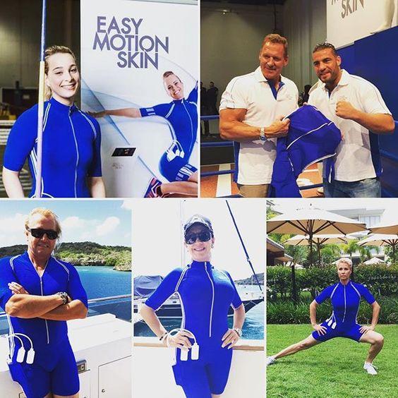 Wir sind die blauen ;) #emstraining #fitnessmotivation #easymotionskin #sonjazietlow #robertgeiss #carmengeiss #manuelcharr #ralfmoeller #feelfree #bodyformingibiza