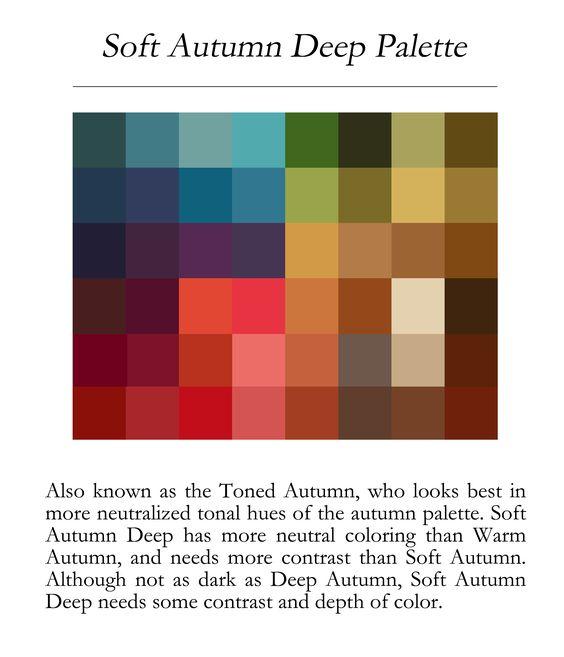 Soft autumn deep palette