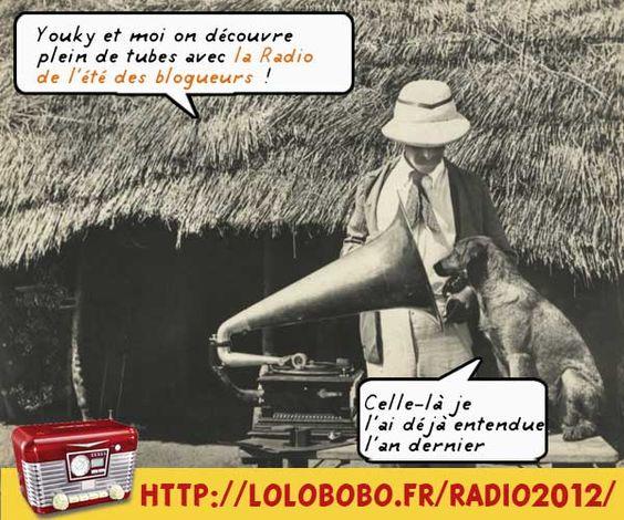 Toi aussi tu veux faire découvrir de la musique à Youky ? alors installe un lien sur le player de la radio des blogueurs sur ton blog http://lolobobo.fr/radio2012 (dans la rubrique «Partage» du player)