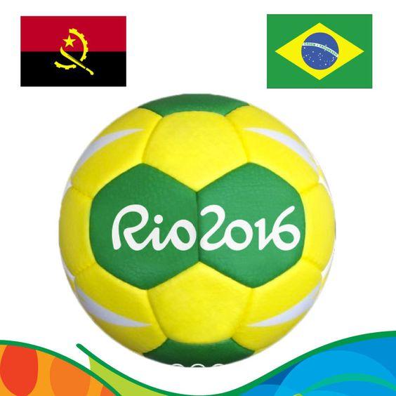 Rio 2016 Official Auction - Bola de Handebol #1, com base de acrílico, utilizada na partida feminina ANG x BRA - Primeira Fase