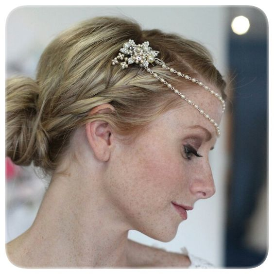 Paris wedding hair accessory.
