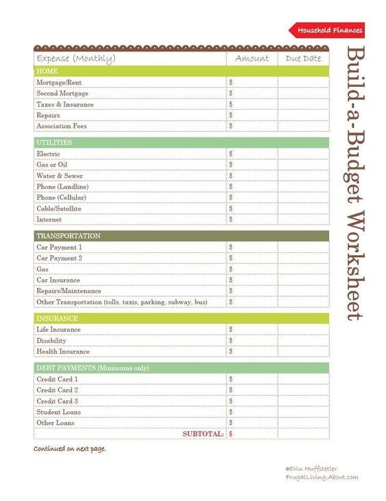 Make A Budget Worksheet – Make a Budget Worksheet