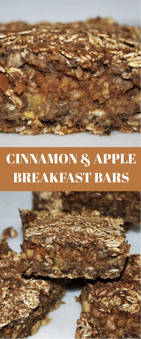 7-Ingredient Apple Cinnamon Breakfast Bars