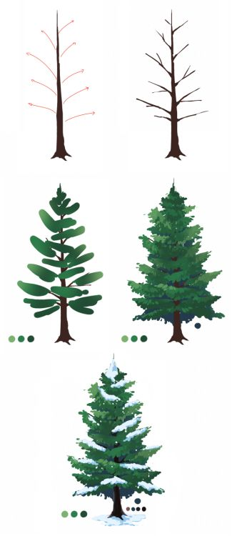 Tree drawings learn how to draw and christmas trees on for Cute christmas tree drawing