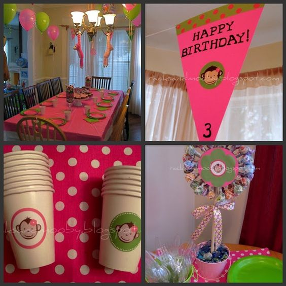 Monkey themed birthday birthday-party-ideas
