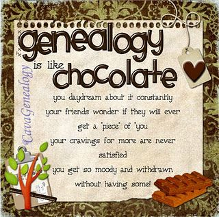 ~Genealogy & Chocolate Are Addictive~: