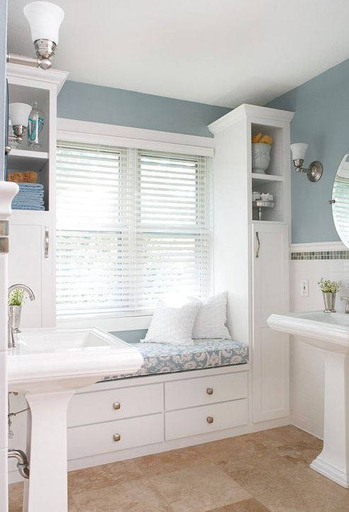 pedestal-sinks-with-storage-and-window-seat-built-