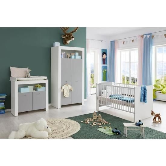 Pia Chambre Bebe Complete Lit 70 140cm Armoire Commode