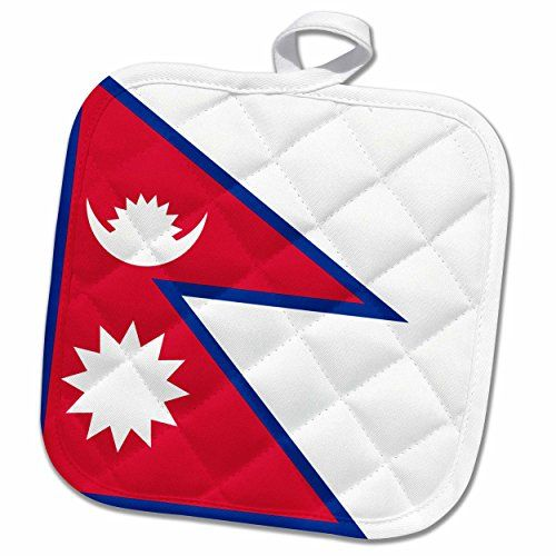 3drose Inspirationzstore Flags Flag Of Nepal Nepalese Rhododendron Red White Blue Sun Crescent Moon South Asia Nepal Flag Cool Things To Buy Red White Blue