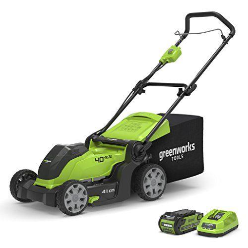 41 cm Green 40 V Greenworks Tools 2504707 Lawnmower