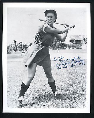 Dottie Kamenshek AAGPBL HOF Signed Autographed 8 x 10 Photo Rockford Peaches