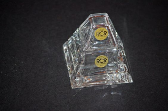 RCR Crystal Inkwell or Trinket Box   Royal by SuzsCollectibles
