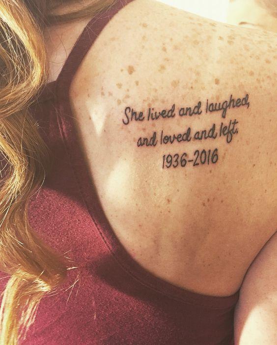 Beautiful...Memorial tattoo for my grandma #tattoo #grandma @jaimeburke1 on Twitter