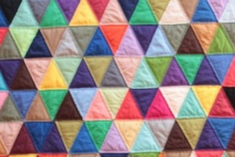 Solid multicolor pyramid stacks. Love!