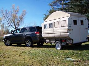 Beautiful I Wanted To Show You Big Als Homemade Camping Trailer He Has Nicknamed It ALVAN The Camper  It Can Be Towed With Pretty Much Any Small Vehicle Since It Weighs Less Than 1000 Lbs I Almost Forgot To Mention, He Even Added A 12v