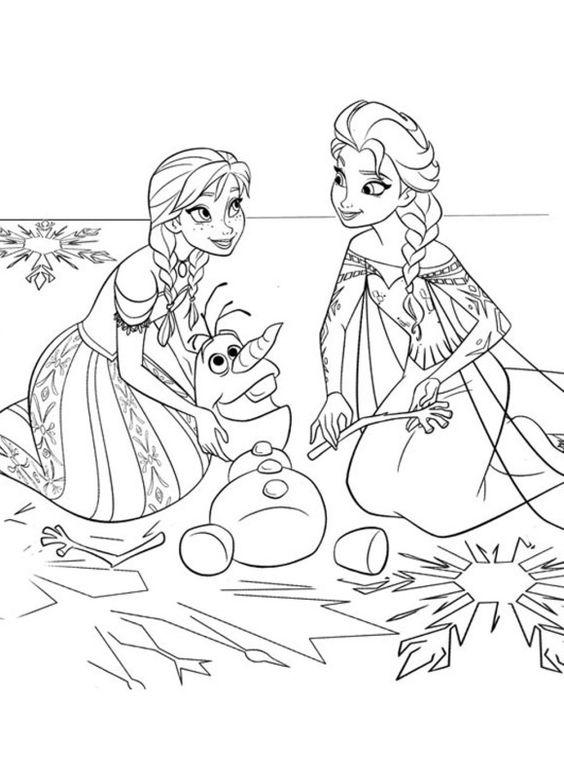 Anna Und Elsa Ausmalbilder