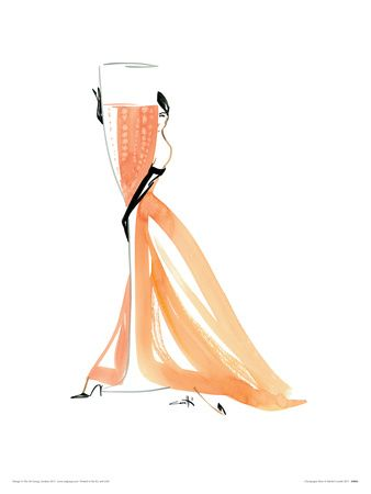 Champagne Rose Giclee Print by Michel Canetti at Art.com