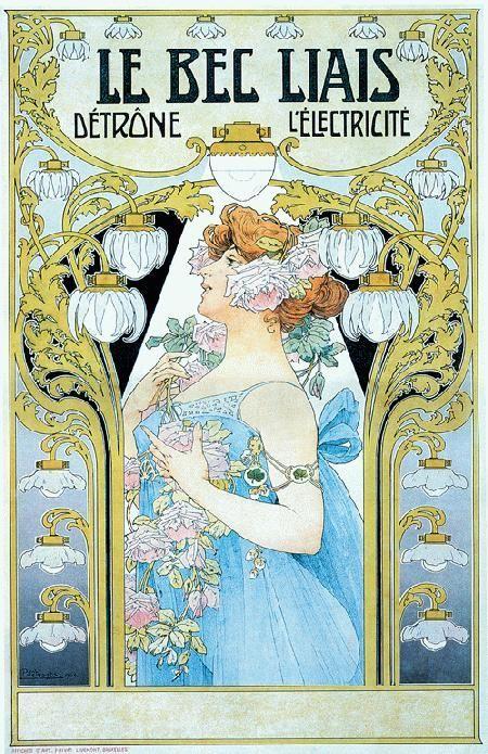seancecafe: Le Bec Liais by Henri Privat Livemont (1904)