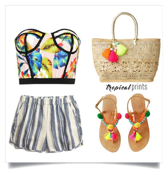 """tropical prints & stripes"" by lushxoxo ❤ liked on Polyvore featuring Lilly Pulitzer and Madewell"