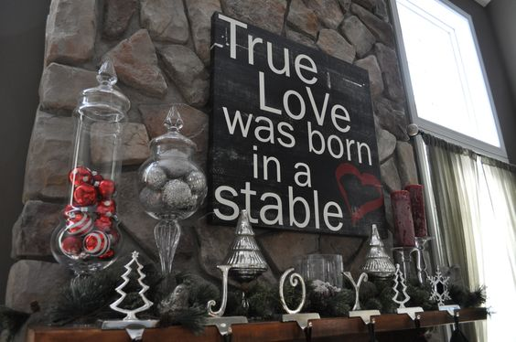 TRUE LOVE WAS BORN IN A STABLE......