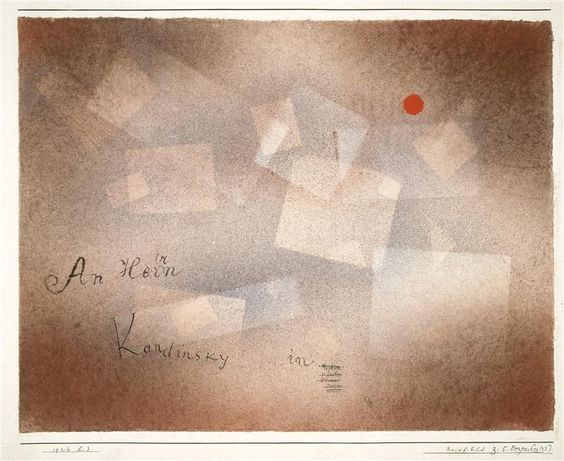 Paul Klee. Briefbild z. 5. Dezember 1927, 1926