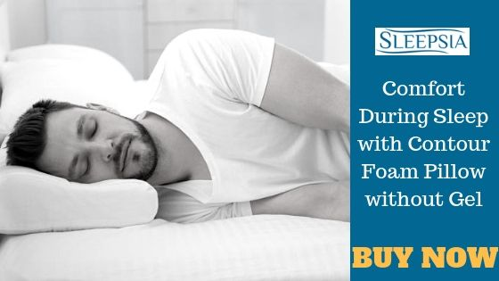 Comfort During Sleep With Contour Foam Pillow Without Gel Contour Pillow Foam Pillows Contour
