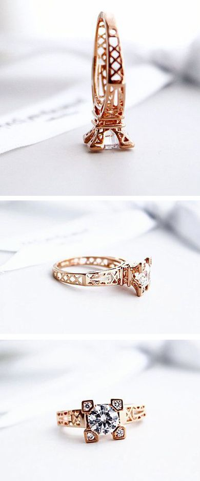I love jewelry with a hidden meaning behind the design!  http://rubies.work/0273-ruby-rings/ Eiffel Tower Ring.