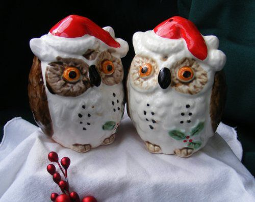 christmas owls   so cute i spotted these vintage christmas owls by enesco japan for ...
